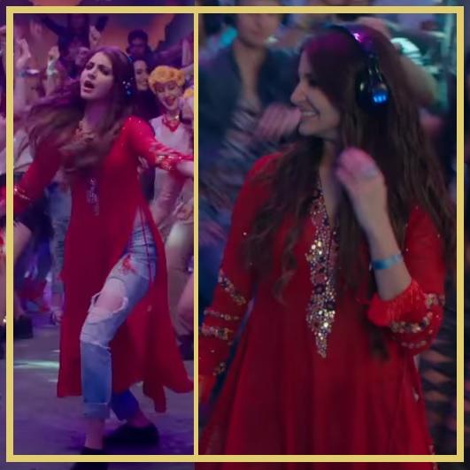 Anoshka Sharma in Jeans kurti combination