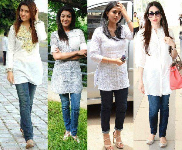 Jeans kurti designs