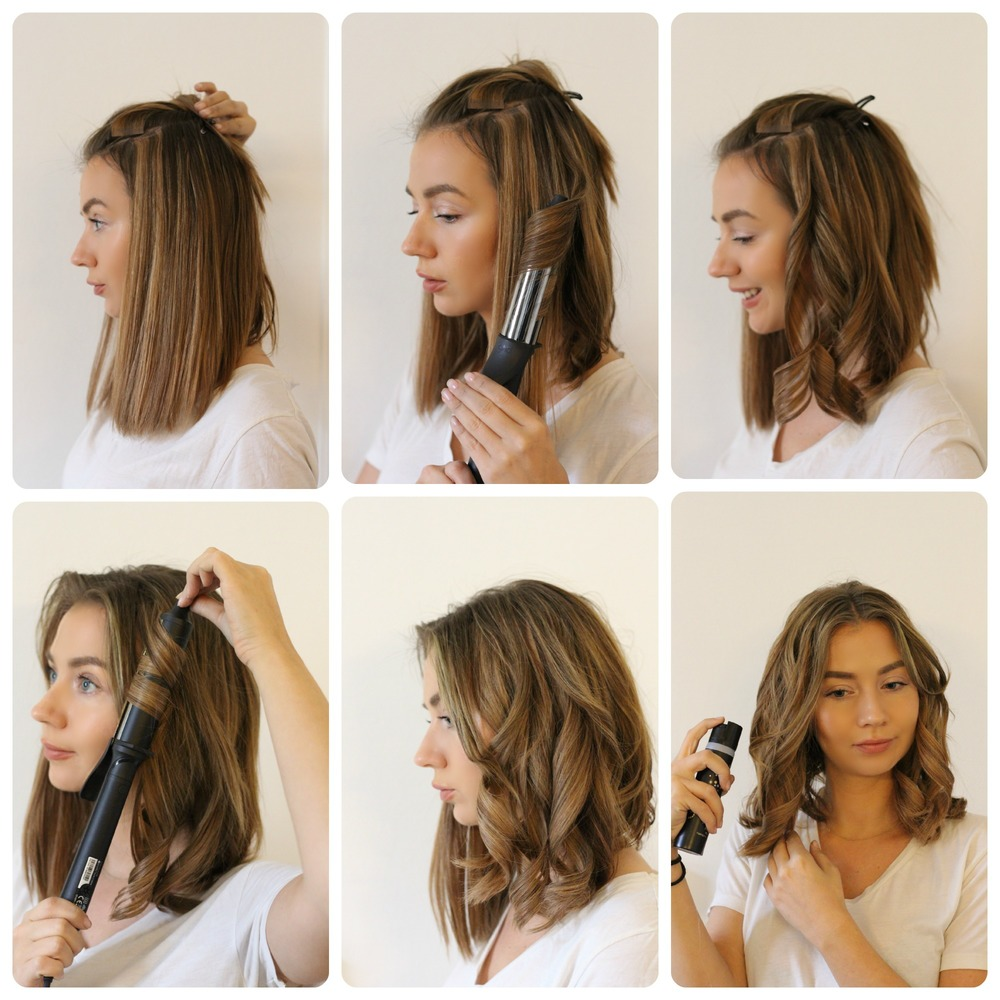 Cute Short Hairstyle for School Waves DIY