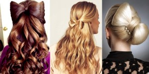 cute bow hairstyle for back to school