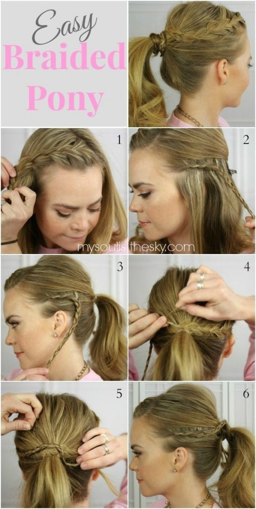 Braided Ponytail Pretty Hairstyles For School
