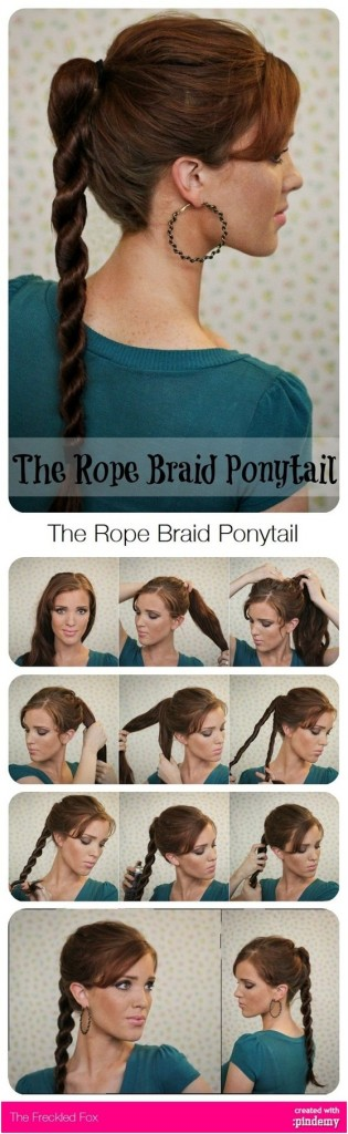 Rope ponytail Pretty Hairstyles For School
