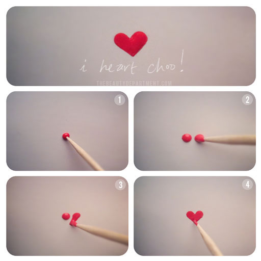 How to make heart with nail polish DIY