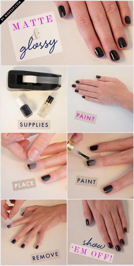 Black DIY Nail Art Designs