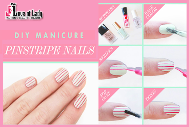 Striped DIY Nail Art Designs