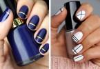 Striped DIY Nail Art Designs