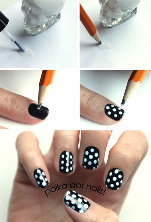 Polka Dot DIY Nail Art Designs
