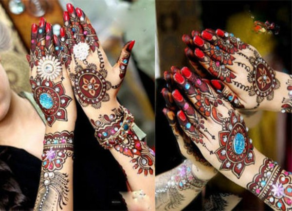 Easy Round Design Gol Tikka Mehndi for Hands 2018