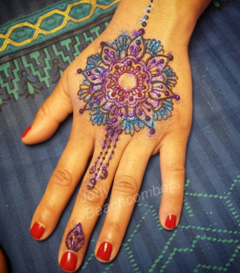 Easy Round DesignGol Tikka Mehndi for Hands 2018