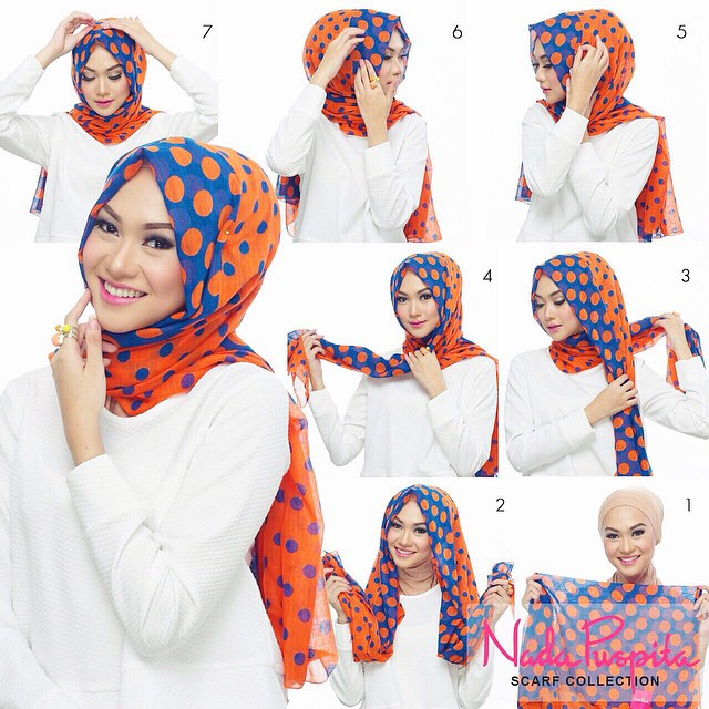 how to wear hijab with dupatta step by step