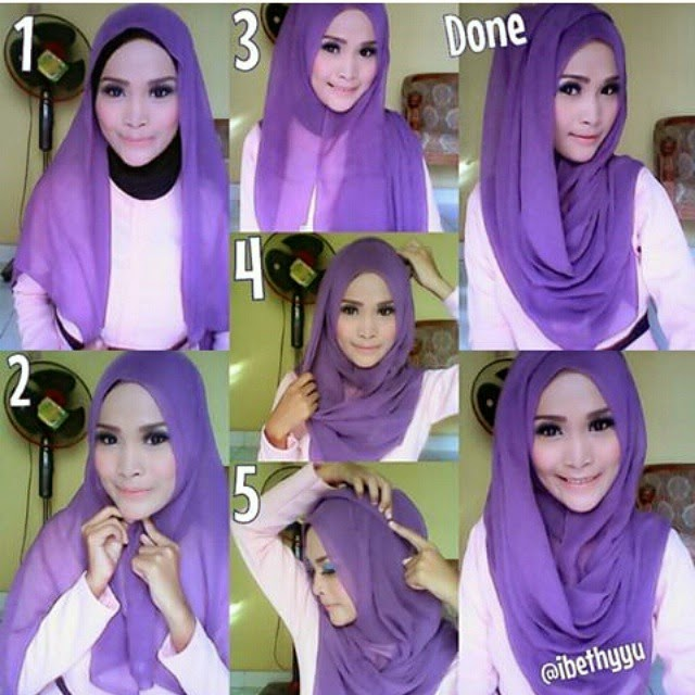Modern Hijab Styles Step by Step Tutorials