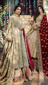 Pakistani Bridal Dresses for Barat Day In Pastel Color