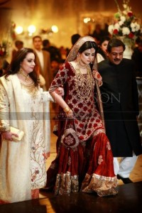 Pakistani Bridal Dresses for Barat Day In Red Color