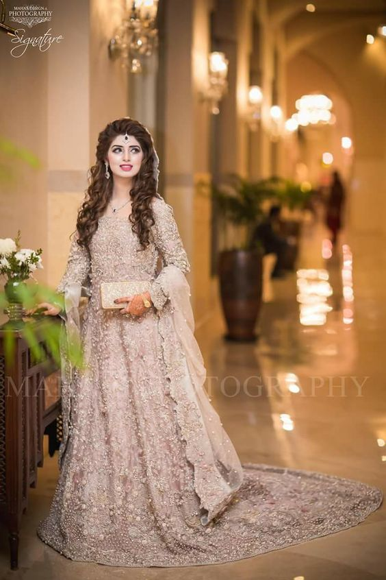 Pakistani Bridal Dresses for Walima in White Color