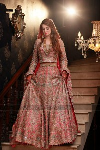 Pakistani Bridal Dresses for Walima in Pink Color