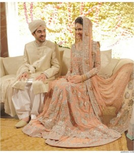 Pakistani Bridal Dresses for Walima in light Color