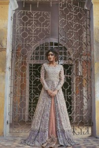 Pakistani Bridal Dresses for Walima in Pastel Color