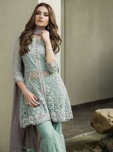 Pakistani Bridal Dresses for Party Wear in Pastel Color