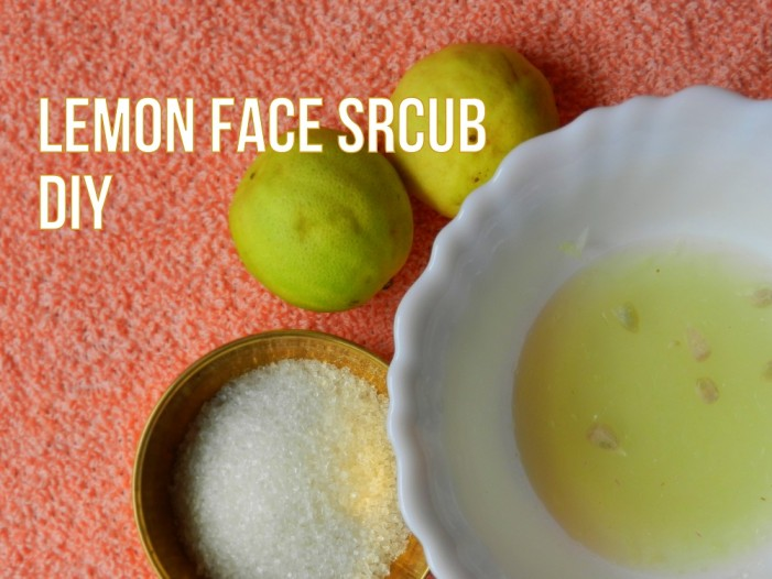 DIY Face Scrub Lemon and Sugar