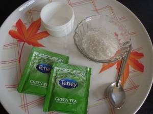 DIY Face Scrub Green Tea