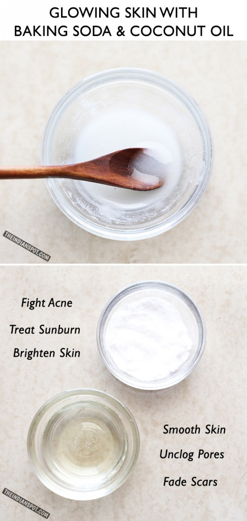 DIY Face Scrub Coconut and Baking Soda