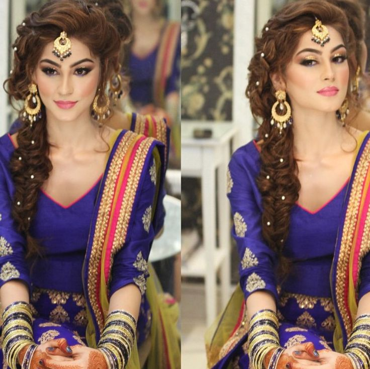 Mehndi Party Hairstyles : New pakistani bridal hairstyles to look stunning