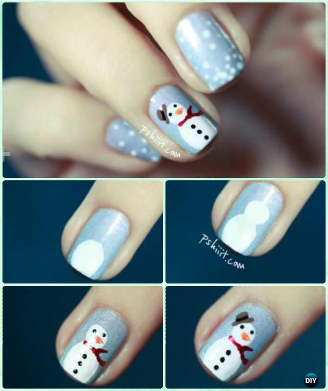 Snowman Nail Art Tutorial: Holiday Nail Art Designs That Are Super Simple To Try