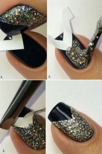 Easy Glitter Nail Art Designs Step by Step at Home