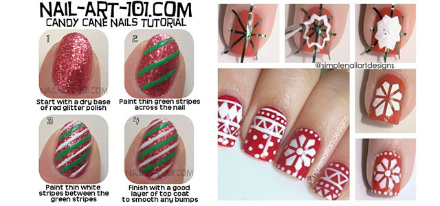 Holiday nail art designs that are super simple to try fashionglint easy holiday nail art designs step by step at home prinsesfo Images
