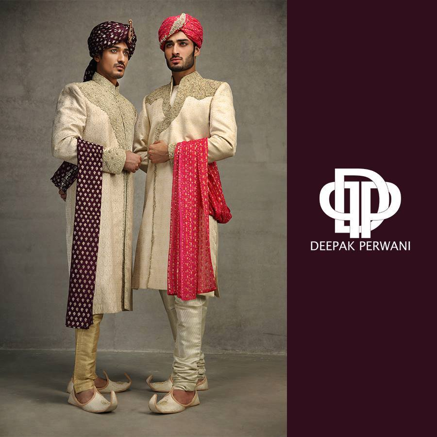 Pakistani Sherwani Designs in Off whit color with turban