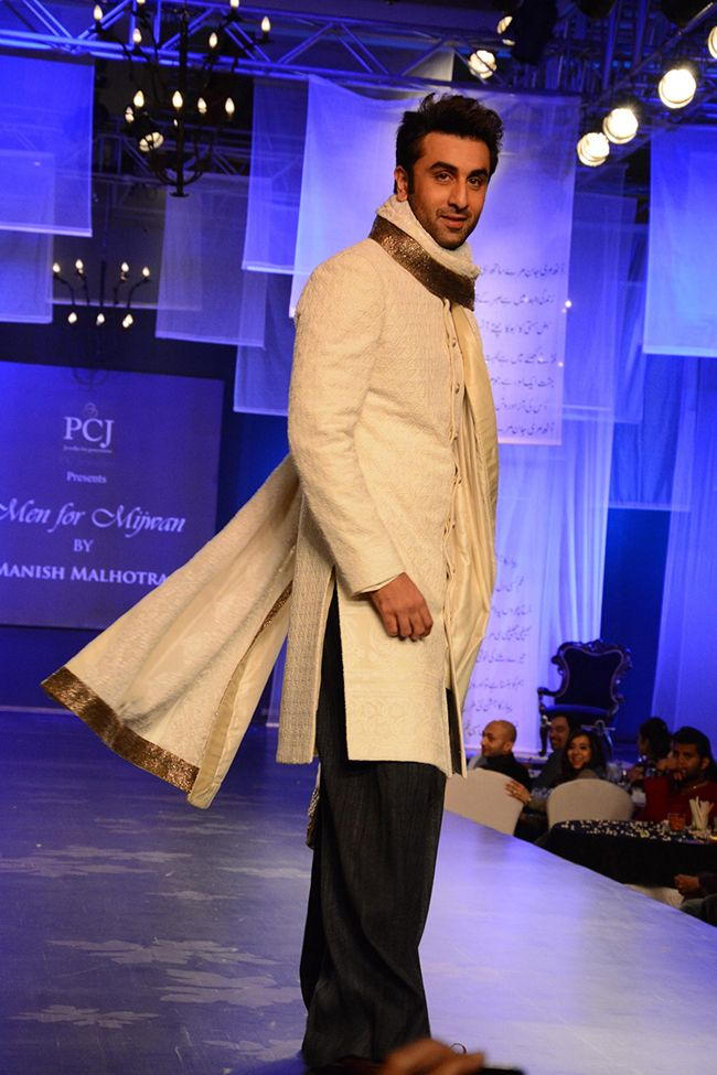 Pakistani Sherwani Designs in Off white Color