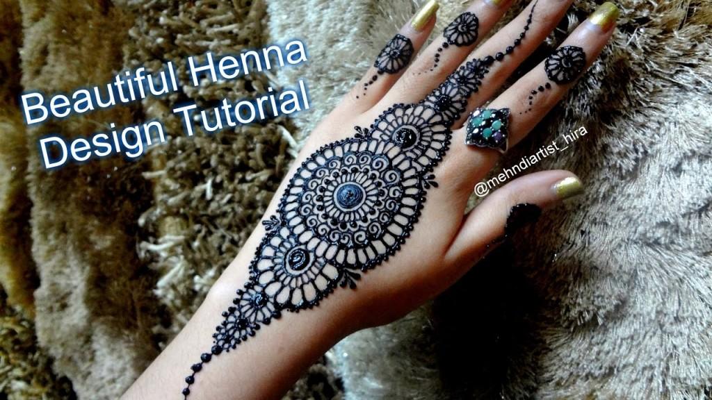 Round Arabic Mehndi Designs