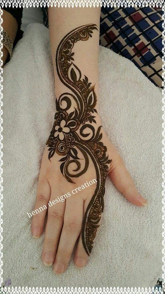 Bold & Thick Arabic Mehndi Designs