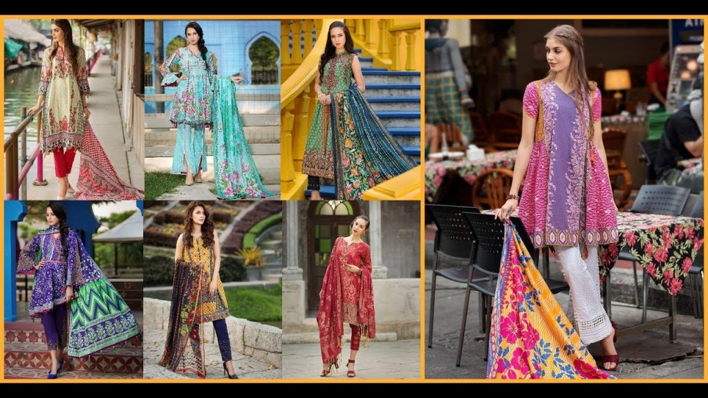 Stylish Lawn Dresses Stitching Designs In Pakistan