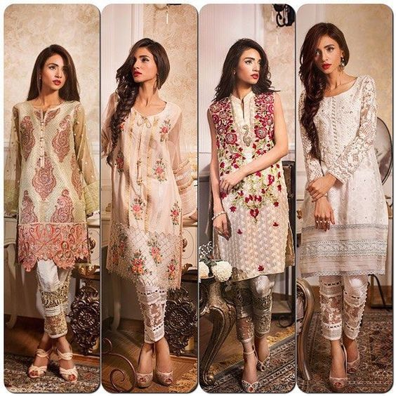 Lawn Dresses Stitching Designs Pakistani for Neckline