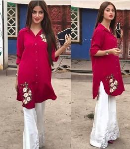 Bell Bottom Trouser Designs 2019 In Pakistan