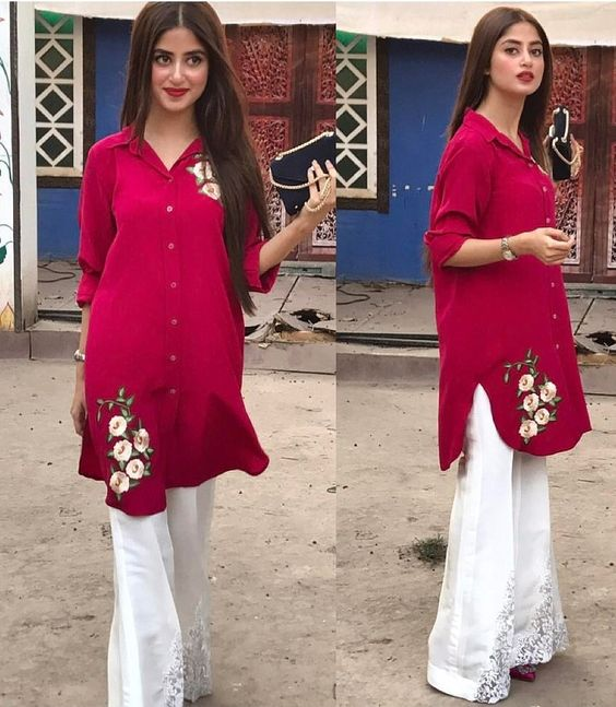 Bell Bottom Trouser Designs 2018 In Pakistan