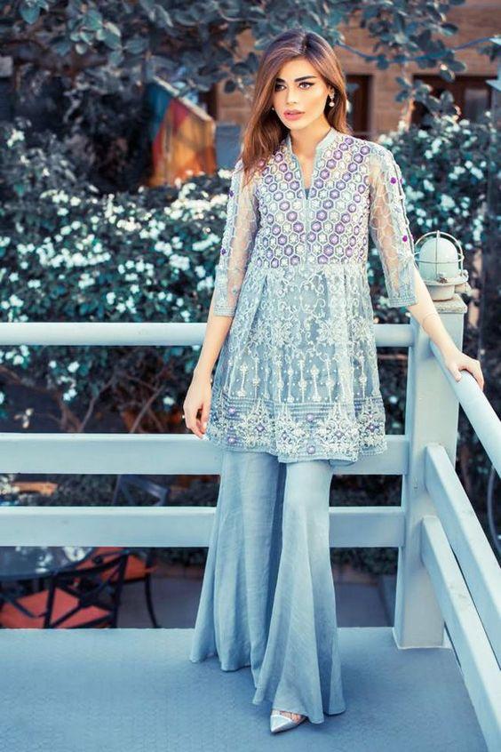 Bell Bottom Trouser Designs 2018 In Pakistan