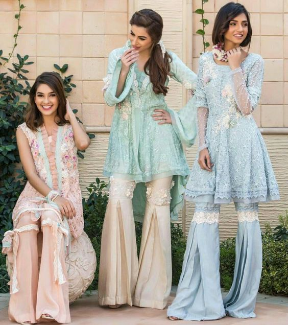 Sharara Trouser Designs 2018 In Pakistan