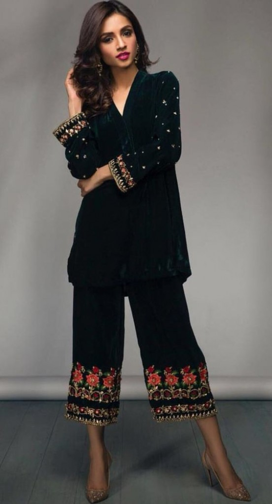 Wide Length Trouser Designs 2018 In Pakistan