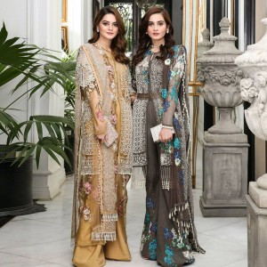 Aiman and Minal in Sanasafinas Eid Collection