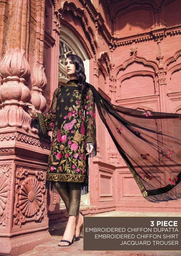 Embroidered Chiffon Eid Dresses 2018
