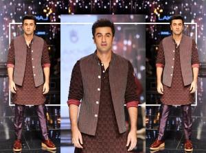 Ranbir Kapoor in Pathani Kurta Pajama with Waistcoat