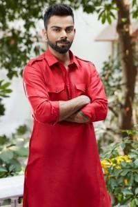 Virat Kholi in designer Pathani Kurta