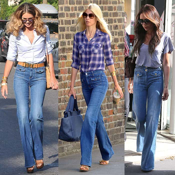 Stylish Tops Designs Images with Boot Cut Jeans