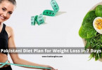 Pakistani Diet Plan for Weight Loss in 7 Days